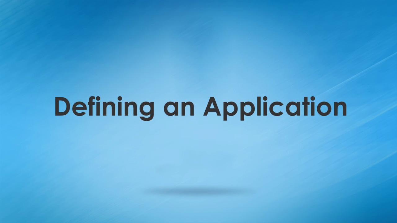 WAS Training Definining an Application